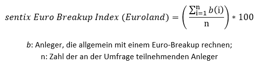 sentix Euro Break-up Index - Formel Gesamtindex